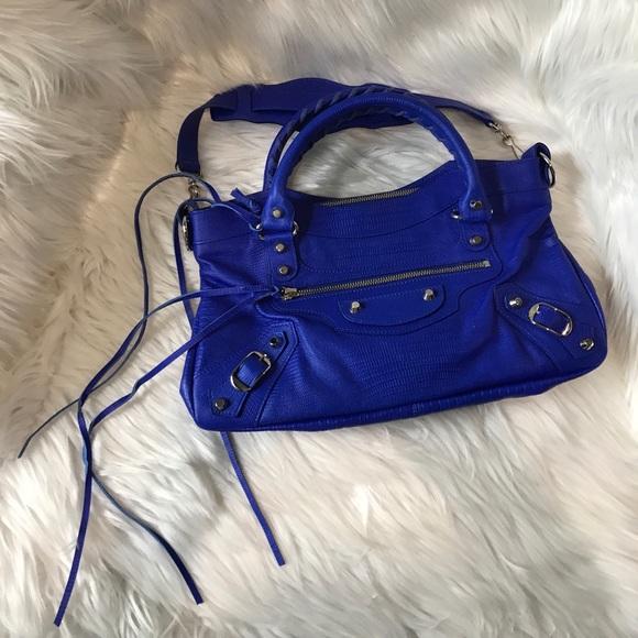 4c6bb7ef83 Balenciaga Bags | Limited Edition Lizard First Neon Blue | Poshmark